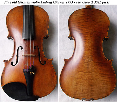 ludwig closner violin