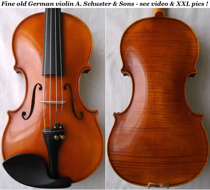 violin Anton schuster and Sons